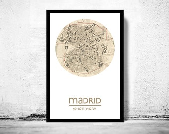 MADRID - city poster - city map poster print