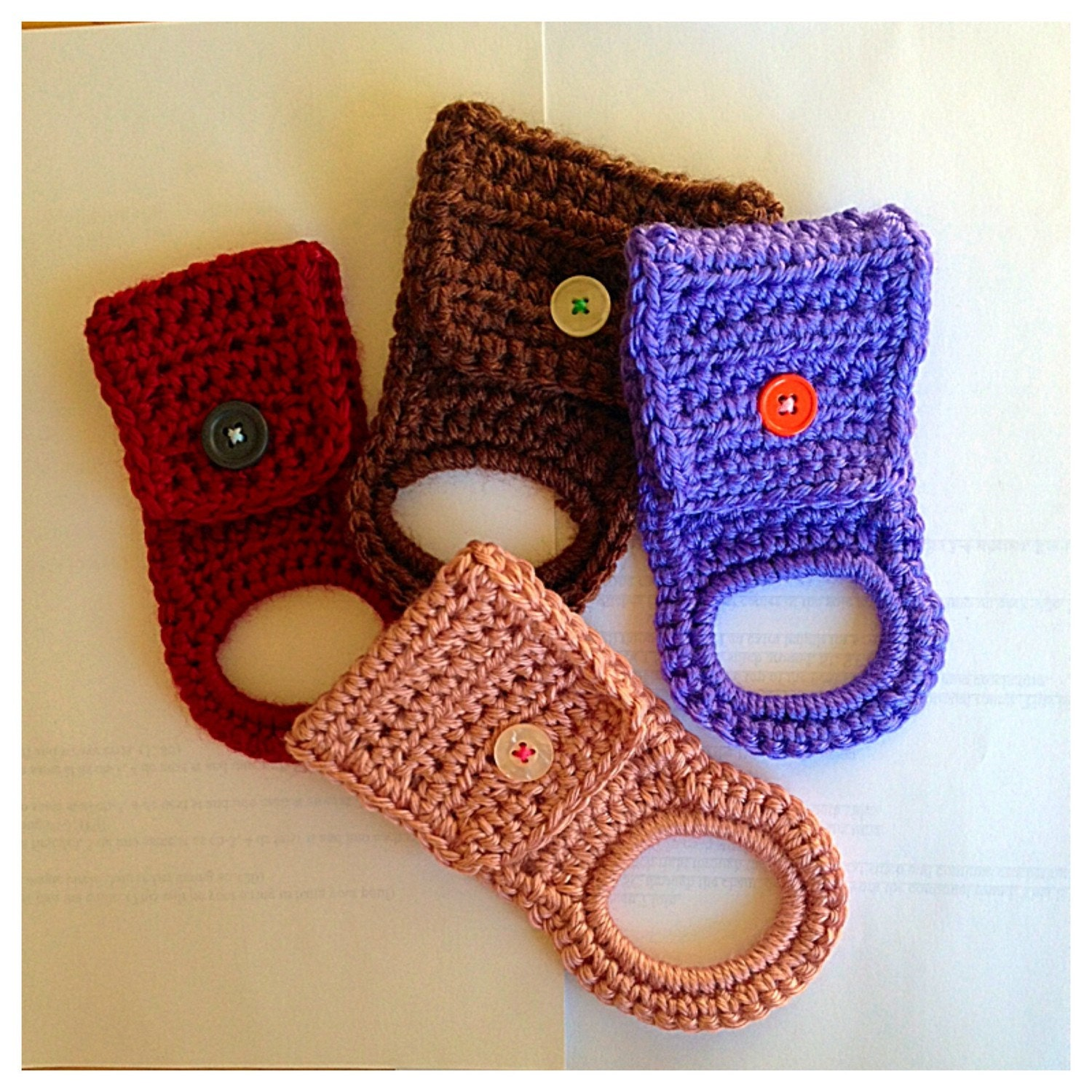 Crochet Elastic Band Kitchen Towel Hanger