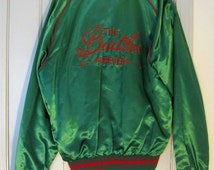 RARE 1970 THE BEATLES Apple Records Promotional Custom Embroidered Green Satin Jacket