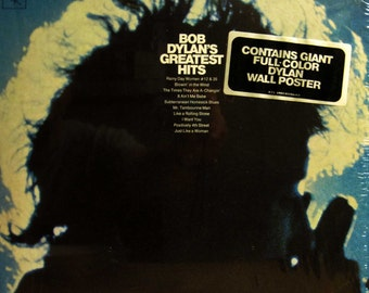 BOB DYLAN'S Greatest Hits Record Album Lp w/ Full Color DYLAN Wall Poster by Milton Glaser