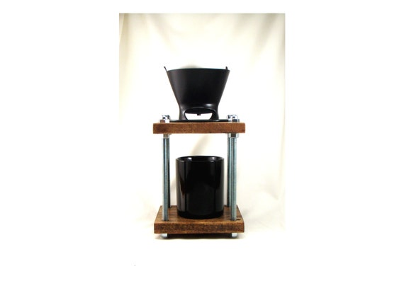Pour Over Coffee Maker Stand : Brew station Pour over coffee maker dripper by Whiterabbitwood