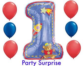 Baby Boy 1st Birthday Balloons, 1st Birthday Party Balloons, Baby Boy Balloons, Boy Birthday Party 1,