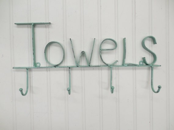 Towel Rack-You Pick Color/ Wall Rack/Towel By TheShabbyStore