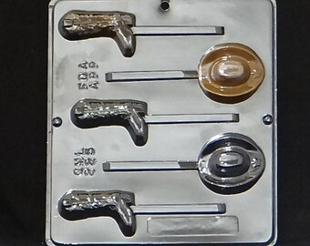 Cowboy Hat and Boot Lollipop Chocolate Candy Mold 225
