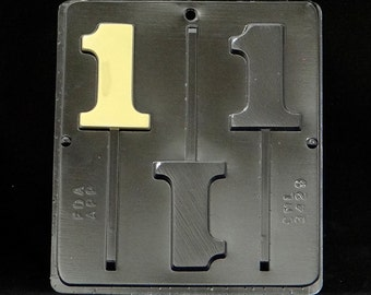 Number 1 Lollipop Chocolate Candy Mold Birthday 1# 3429