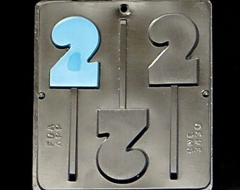 Number 2 Lollipop Chocolate Candy Mold Birthday 2# 3430