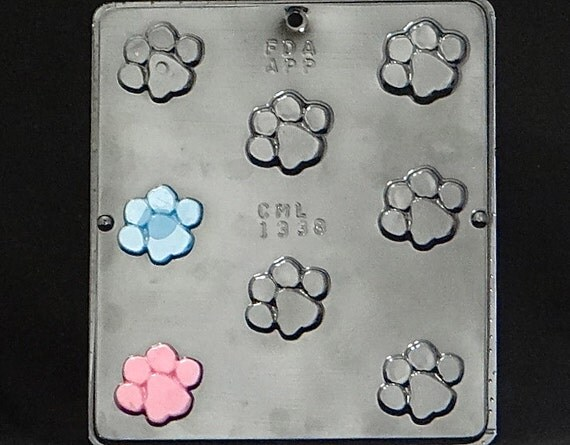Paw Print Chocolate Candy Mold Baby Shower Blue's Clues Theme 1338