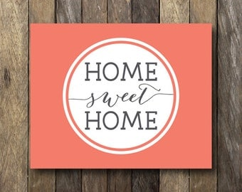 Typography Printable - Gallery Wall Art - Home Sweet Home Art - Typography Print - Wall Gallery Print - Home Sweet Home Print - Entryway Art