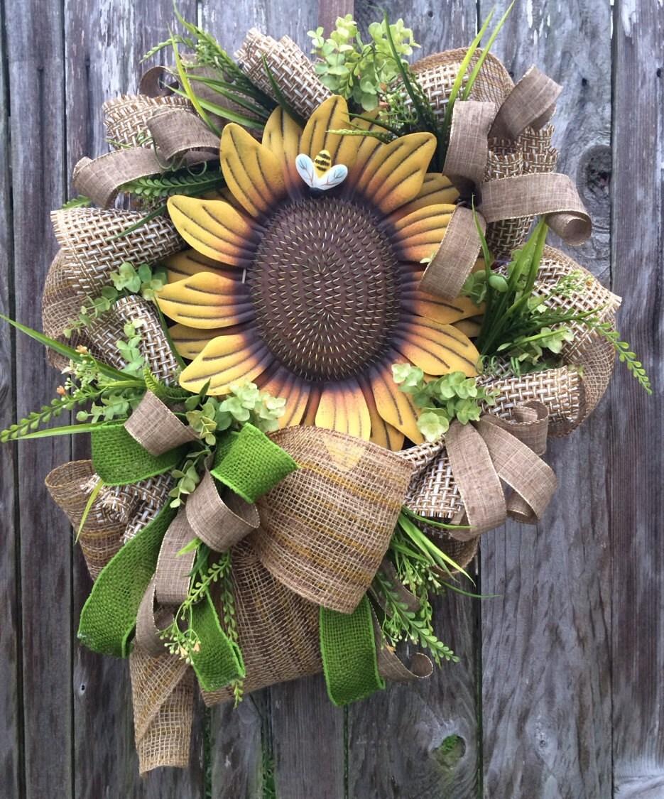 Summer Wreath Natural Wreath Front Door Door Wreath Door