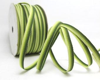 10 Yards 3/16 Inch (5mm) Ombre Ribbon Trim|Dark Green Narrow|Polyester|Doll Trim|Embellishment|Bow Flower Supplies
