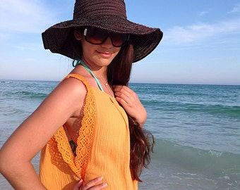 Mango Beach cover up Dress, Short beach coverup with cotton lace, swimsuite cover up, gauze cotton coverup, must have for any beach vacation