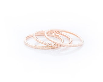 Handmade Gold Filled Stacking Rings - Set of 3