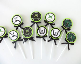 10 XBOX 360 Inspired Lollipops. party favors goodie bags birthday party  boys and girls