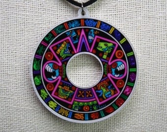 Roundabout (Aztec Calendar Double-Sided Pendant)