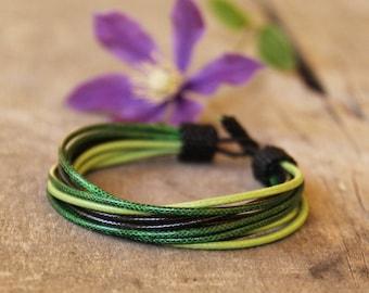 Beaded mens bracelet, Men bracelete, Wristband men, Guys gift, Masculine bracelet, Green bracelet, Gift husband