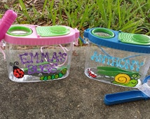 Personalized Bug Catchers, Cute Custom Insect Holder Favors, Nature and Bug Collector Case