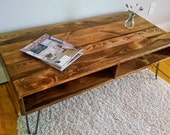 "56"" Coffee Table ~ Handcrafted Reclaimed Wood Coffee Table, Rustic Home Decor"