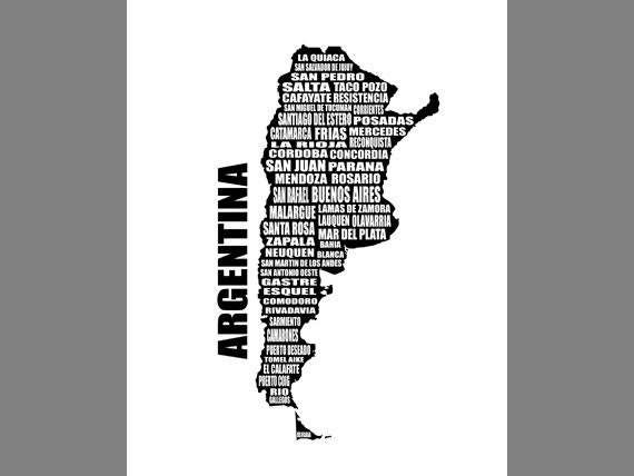 Map Of Argentina Mapa De Argentina Argentina Map Typography - Argentina map download