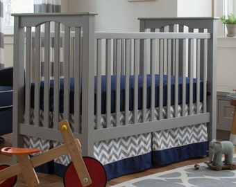 Boy Baby Crib Bedding: Navy and Gray Elephants 2-Piece Crib Bedding Set by Carousel Designs
