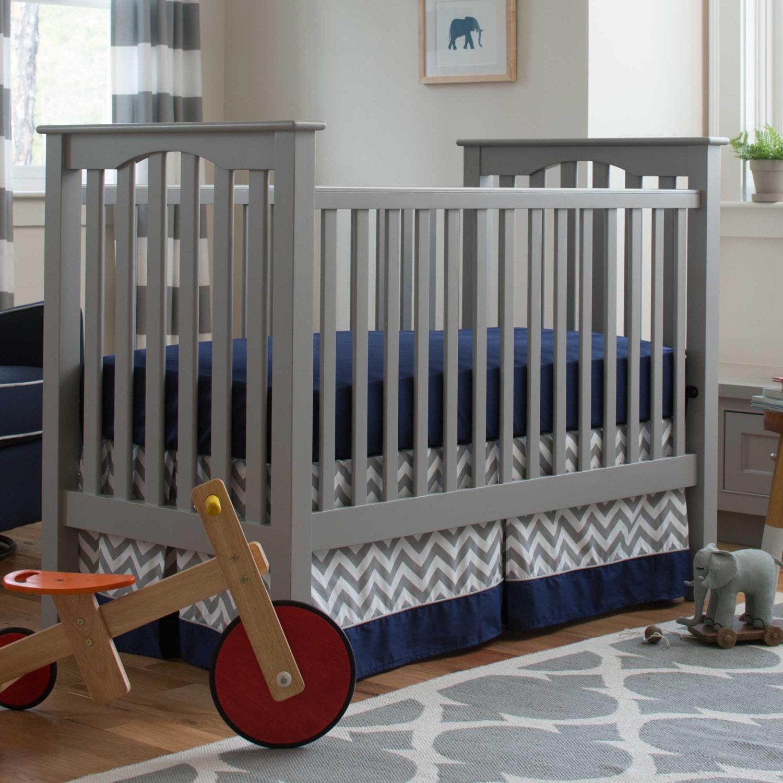 Boy Baby Crib Bedding Navy And Gray Elephants 2 Piece Crib