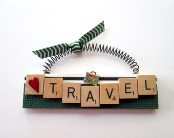 Love to Travel Scrabble Tile Ornament
