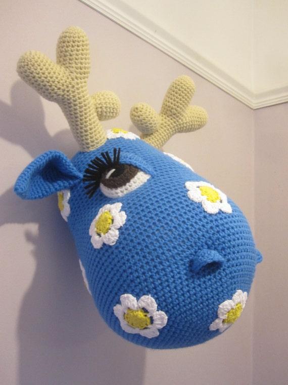 Crochet Trophy Head Wall Hanging Faux Taxidermy Home Decor