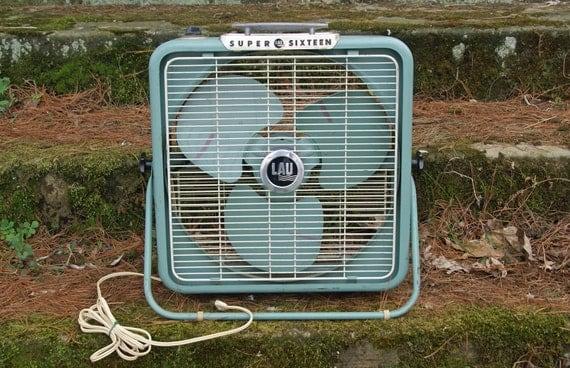 1960s Box Fan : Vintage lau super sixteen electric box fan inch