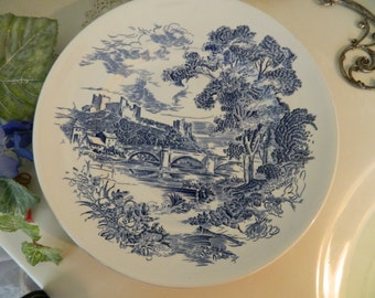 """Set of 4 Vintage Enoch Wedgwood Countryside 10"""" Dinner Plates"""