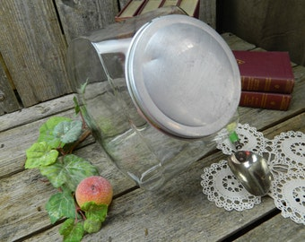 Antique Big Glass Jar and Lid General Drug Store Counter Candy Jar