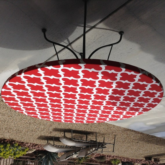 Round Fitted Tablecloth Made With Red And By