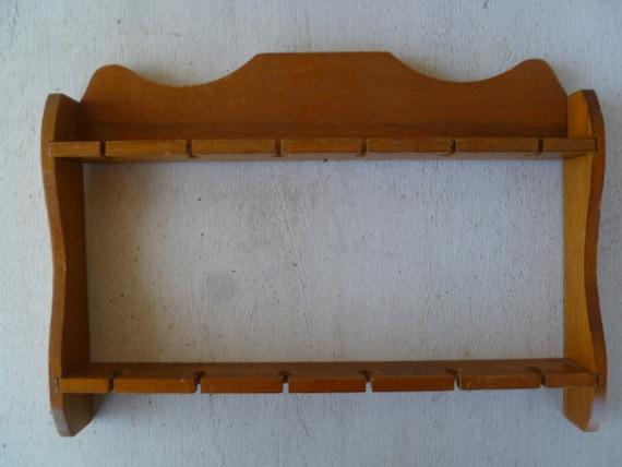 Wood Spoon Holder Display Rack Shelf