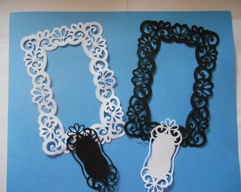 1 set of lacy frame die cuts with matching tags