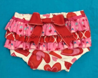 Heart ruffle diaper cover