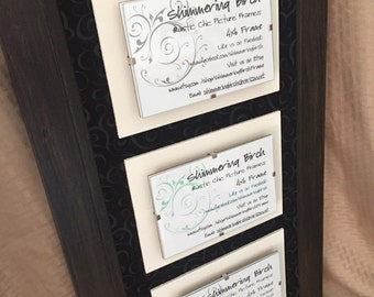 Triple 4 x 6 Rustic Chic Picture Frame