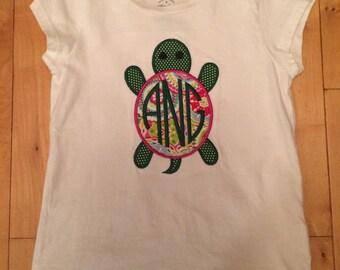 Monogrammed Turtle