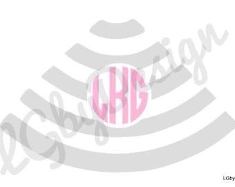 Sonogram Decal with Monogram