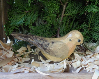 Hand Carved Windowsill Bird (Mourning Dove)