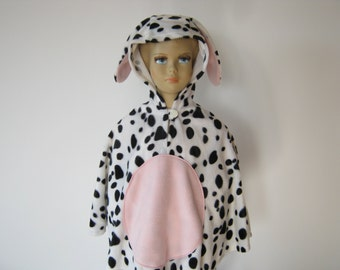 dalmatian halloween / carnival costume cape for toddlers