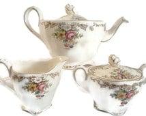 Vintage Grindley Marlborough Royal Petal Tea Pot Set