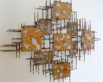 Brutalist Nail Wall Sculpture by Marshall for the Sculpters Guild LTD in the style of Marc Creates and Jere