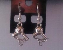 "Pair of Antique Silver ""HAIRDRESSER / HAIR STYLIST"" Dangle Earrings"