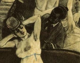 Sailors Dive Felicien Rops 1833