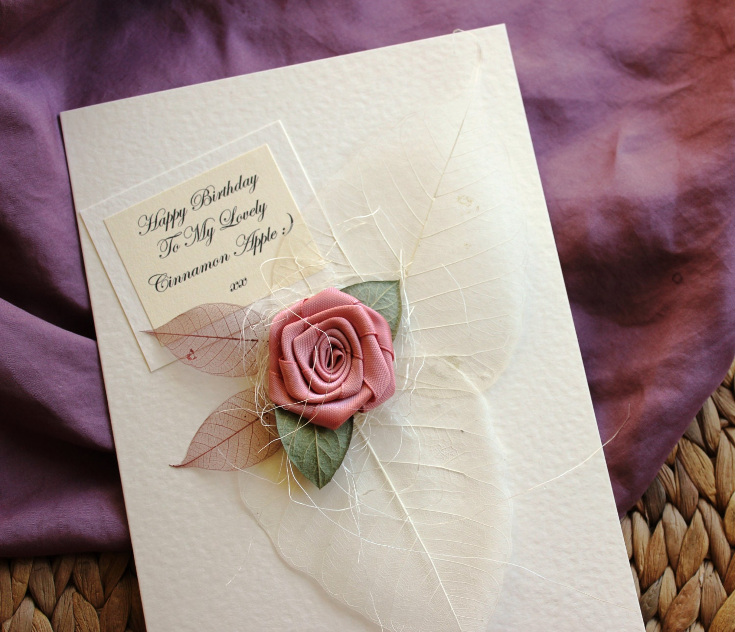 Handmade Birthday Card PERSONALISED For Her Girlfriend Wife