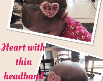 Hairbands with hearts, butterflies, and ladybugs/hair clips