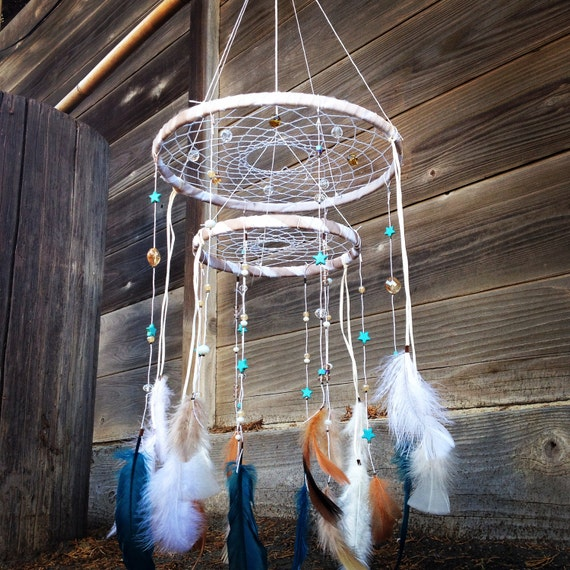 Chandelier Dreamcatcher Mobile By Rainbowwitchcrafts On Etsy