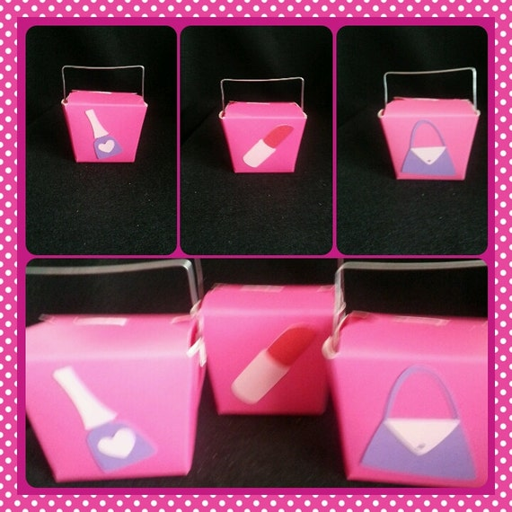 Party Favor Chinese Take Out Boxes : Girl s party favors mini chinese take out boxes
