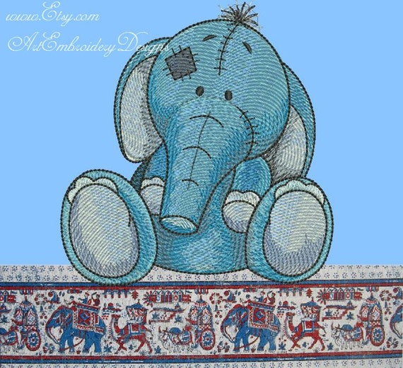 ElephantToots Machine Embroidery Design By