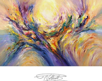 """114.1 """" x 78.7 """" XL Large Abstract Painting Original XL Acrylic Canvas Big Size Abstrakt Großes Gemälde ,UNSTRETCHED! by Peter Nottrott"""