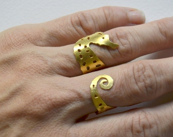 seahorse ring, animal ring, summer ring,  adjustable ring, sea horse jewelry