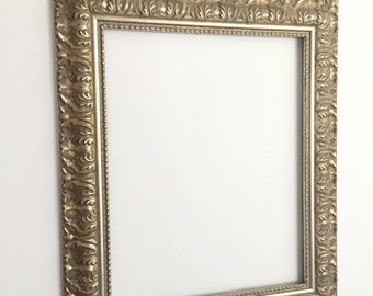 large gold frame hand painted picture frame hollywood regency wedding photo prop wall hanging frame